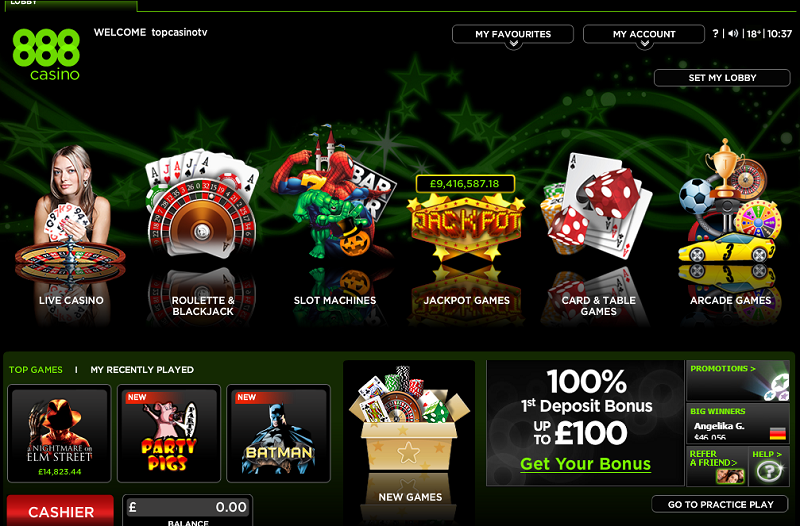 888 online casino gaming handy