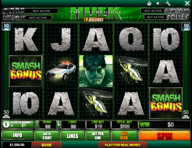 free 3d casino slots the hulk tv episodes