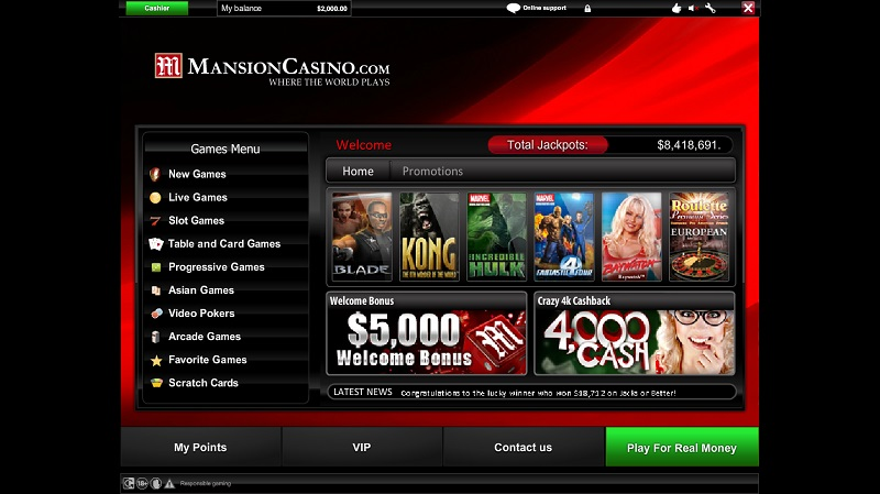 mansion casino instant play