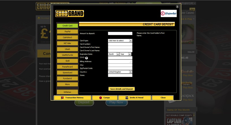 eurogrand casino demo